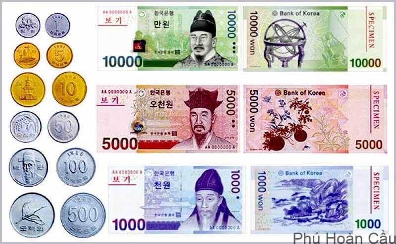 1000 won bằng bao nhiêu tiền Việt Nam