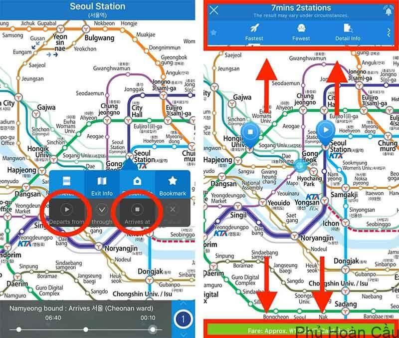 Hướng dẫn sử dụng ứng dụng tàu điện ngầm