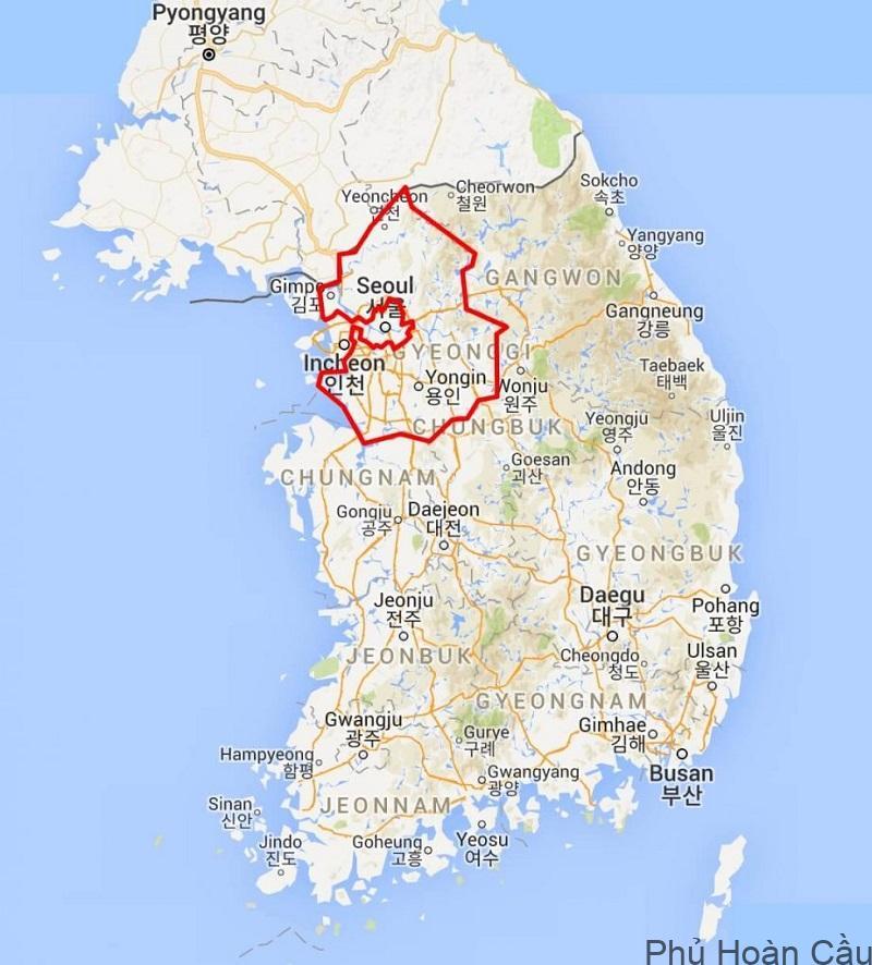 Tỉnh Gyeonggi-do có 27 thành phố và 3 huyện