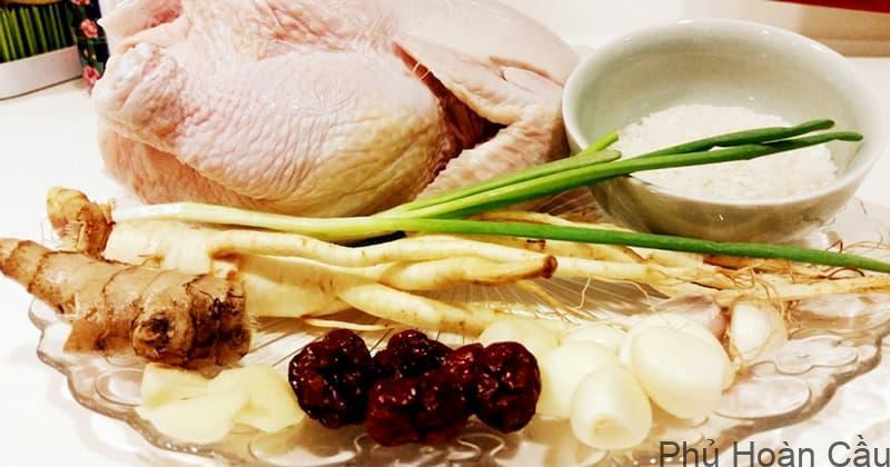 Cách làm gà hầm sâm Hàn Quốc