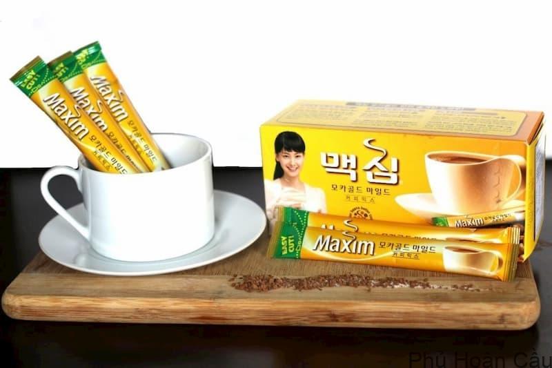 Cafe Maxim Hàn Quốc dạng gói là phổ biến nhất