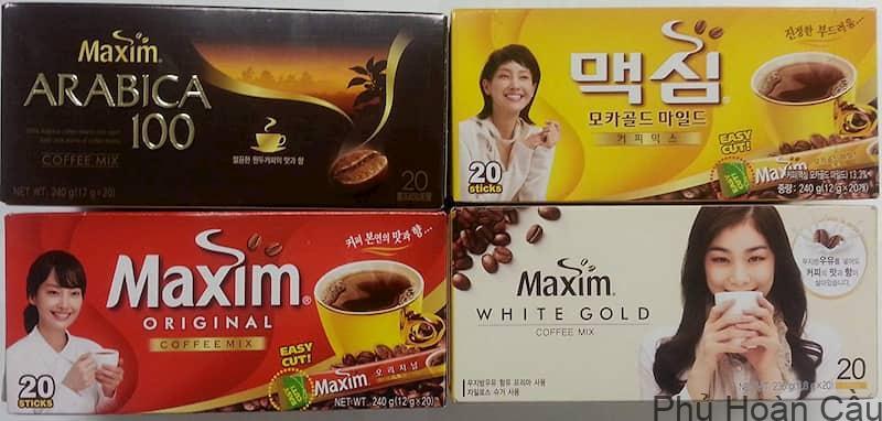 Có nhiều loại cafe Maxim Hàn Quốc