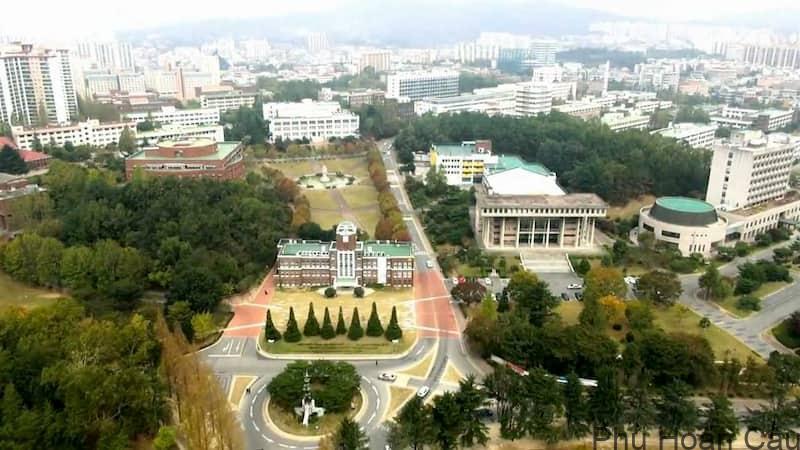 Đại học Chonnam Hàn Quốc nhìn từ trên cao