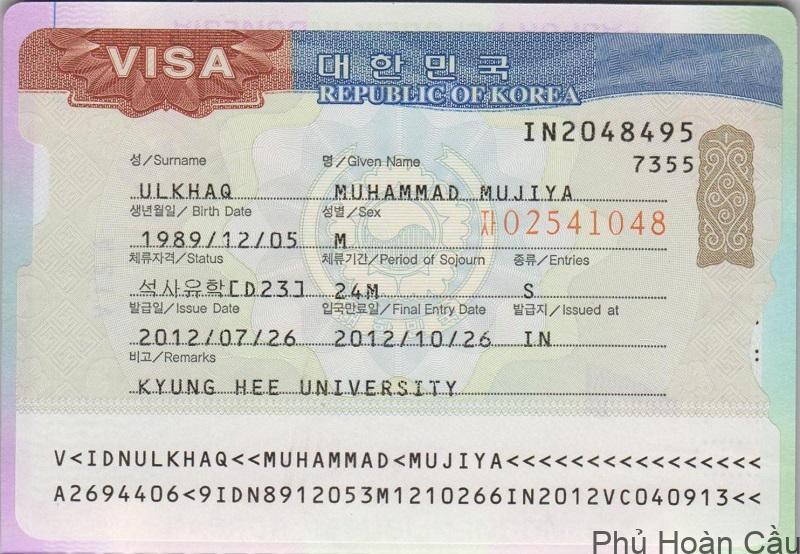 E-visa là giấy tờ cần thiết để đi qua cửa khẩu Hàn hợp pháp