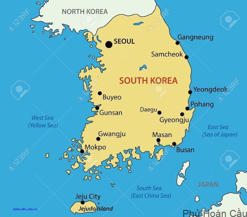 Hàn Quốc có 6 thành phố lớn và 1 thành phố đặc biệt