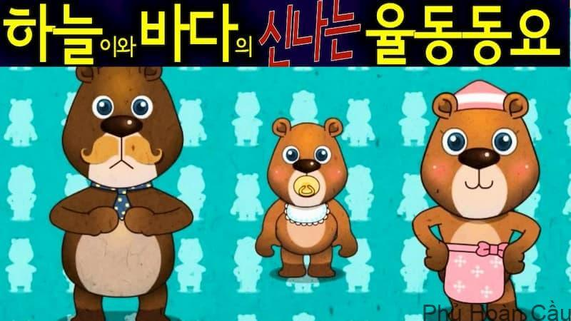 Học tiếng Hàn qua bài hát ba con gấu