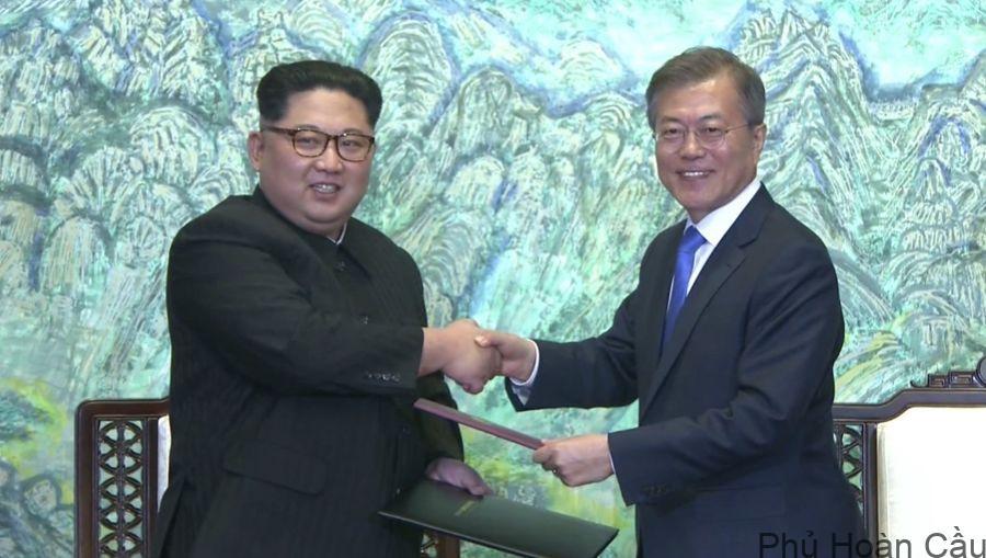 Hai nhà lãnh đạo Triều Tiên và Hàn Quốc thống nhất ký hiệp ước hòa bình