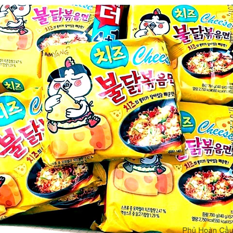 Mì tôm Hàn Quốc - mì gà phô mai Samyang