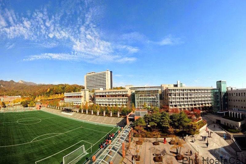 Quang cảnh khuôn viên trường Kookmin Hàn Quốc