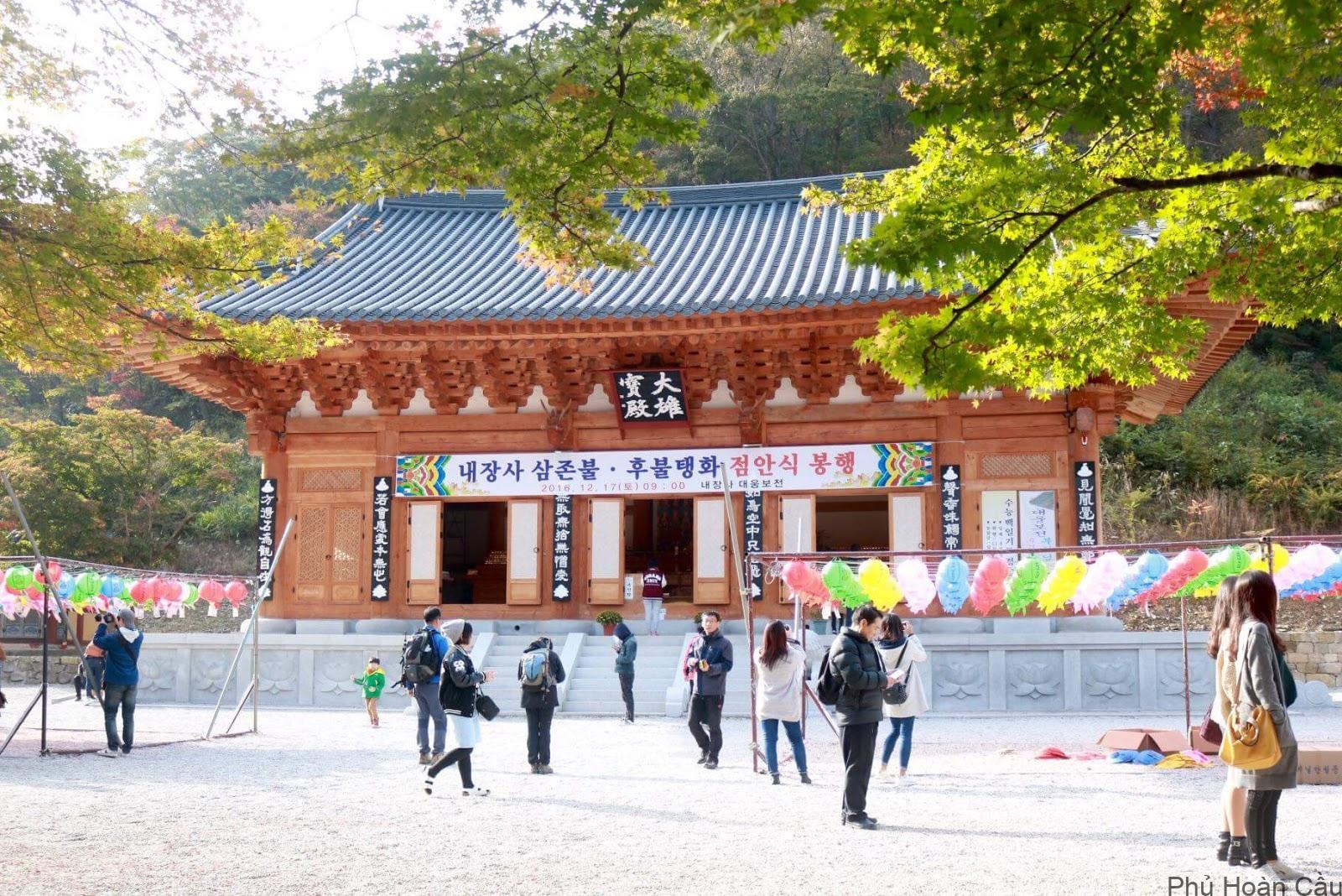 Đền Beakyangsa - điểm quen thuộc khi ghé Naejangsan