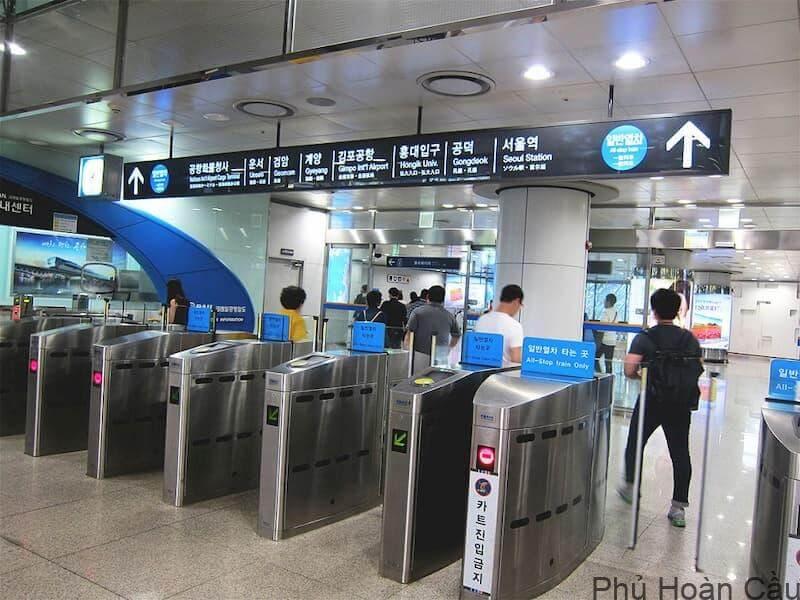 Nơi quẹt thẻ tàu điện ngầm