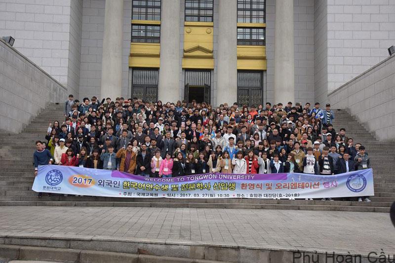Rất nhiều du học sinh quốc tế lựa chọn trường Tongwon là điểm đến