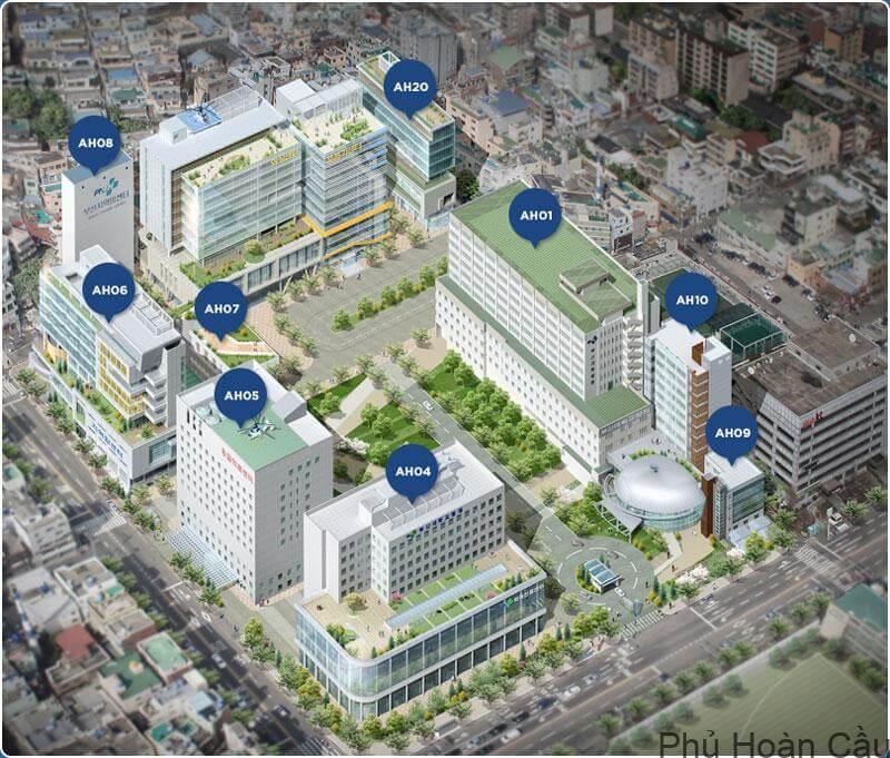 Sơ đồ khu vực chức năng của trường quốc gia Pusan