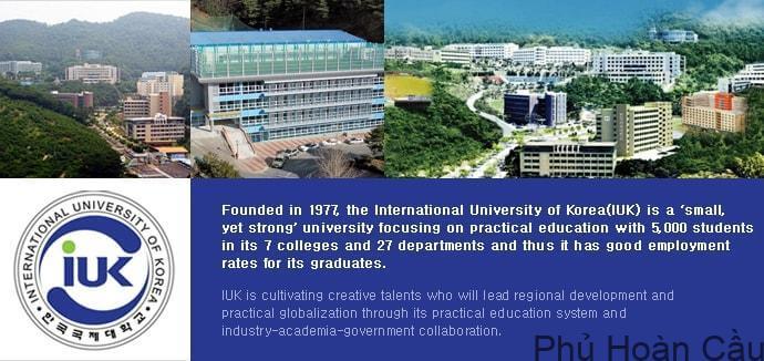 Đại học quốc tế Hàn Quốc là ngôi trường dành cho du học sinh quốc tế