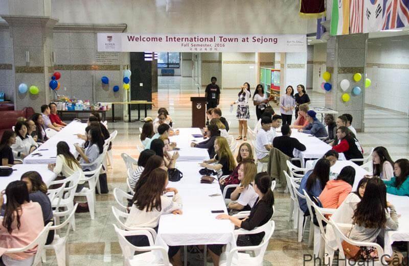 Trường Sejong có cơ sở vật chất hiện đại, thân thiện với các du học sinh